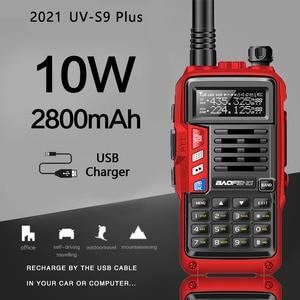 2021BaoFeng UV-S9 Plus 10W/8W Portable Walkie Talkie 10km Long Range Amateur Radio Transceiver for Hunt Forest City Upgrade 5R