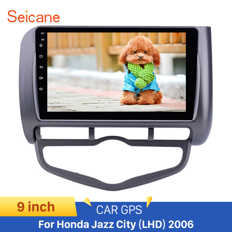 <font><b>Seicane</b></font> Left Hand Drive car 9 inch Car GPS Navigation RadioAndroid 8.1 for 2006 <font><b>Honda</b></font> Jazz <font><b>City</b></font> Auto AC support Carplay DVR OBD image