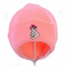 Love Gesture Finger Winter Knitted Hat Flipper Little Heart embroidery beanie cap Unisex outdoors ski hats gorro