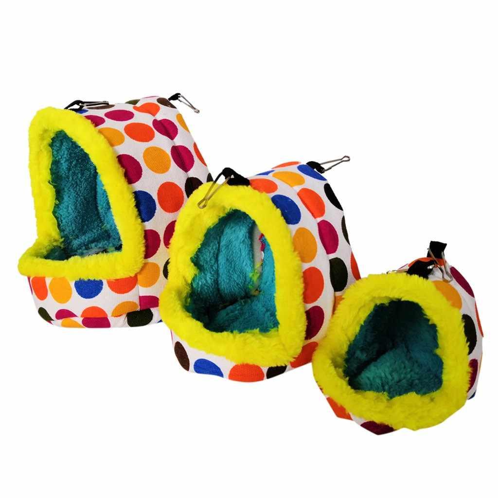2019 novo papagaio ninho de pelúcia quente inverno hammock pet pássaro pendurado balanço cama caverna pendurado cama para periquito hamster esquilo