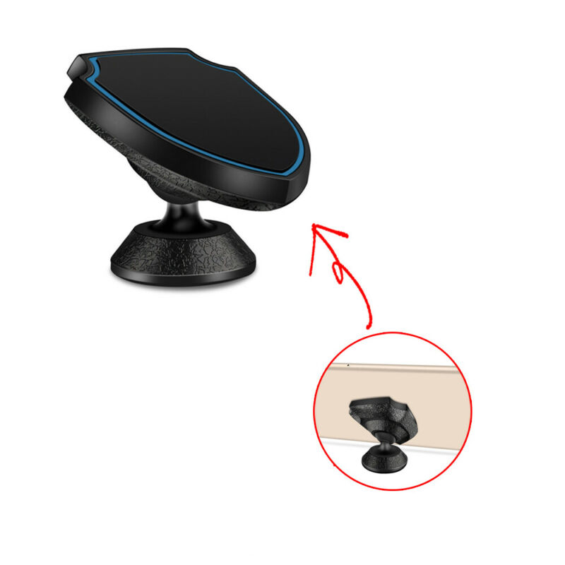 Mount Phone Holder Stand Bracket Car Dashboard Magnetic GPS Support Interior Black Accessory
