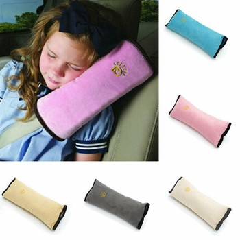 New Kids Safety Seat Belt Pillow Baby Car Sleep Positioner Protect Shoulder Pillow Pad Child Strap Cushions Head Supports image