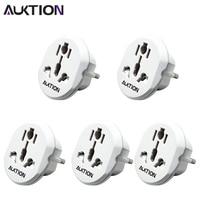 AUKTION-adaptador Universal de enchufes eléctricos para el hogar, convertidor de toma de corriente internacional de CA 250V, 16A, para viaje, portátil, 5 unids/lote