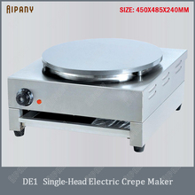 DE1/DE2 electric crepe maker single/double head non-stick crepe cooking pan steak pancake baking machine crepe pan grill griddle hot sale gas crepe machine