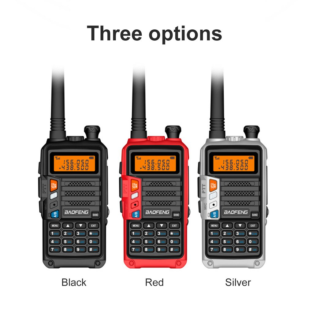 BaoFeng UV-S9 High Power 8Watts Portable Walkie Talkie 10km Long Range CB Radio Transceiver For Hunt Forest City Upgrade 5R