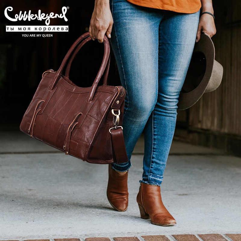 Cobbler Legend Kulit Asli Wanita Bahu Tas 2020 Baru Tren Wanita Tas Selempang untuk Wanita Mewah Desainer Besar Tas Tangan