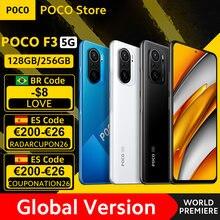 [Lançamento mundial em estoque] versão global Poco F3 5G smartphone Snapdragon 870 Octa-core, 128 GB/256 GB, 6,67