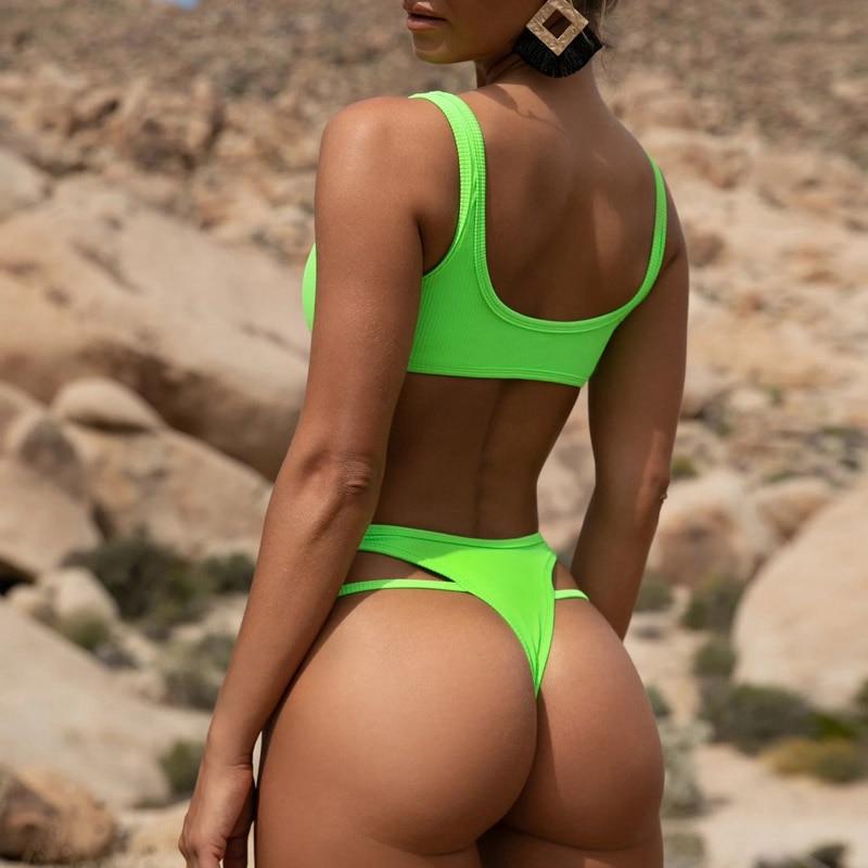 2020 Bandeau Bikini Set Women Swimwear Sexy Push Up Summer Bathing Suit Beachwear Poland Female Biquini Maillot 2