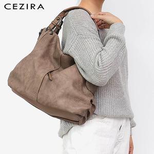Image 5 - CEZIRA sacs à main en cuir Pu Hobos pour femmes, grands sacs de bonne qualité, sacs à épaule solide de poche, fourre tout pour dames