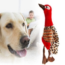 Pet Dog Puppy милый писк плюшевая птица начинка интерактивные звуковые игрушки-красный