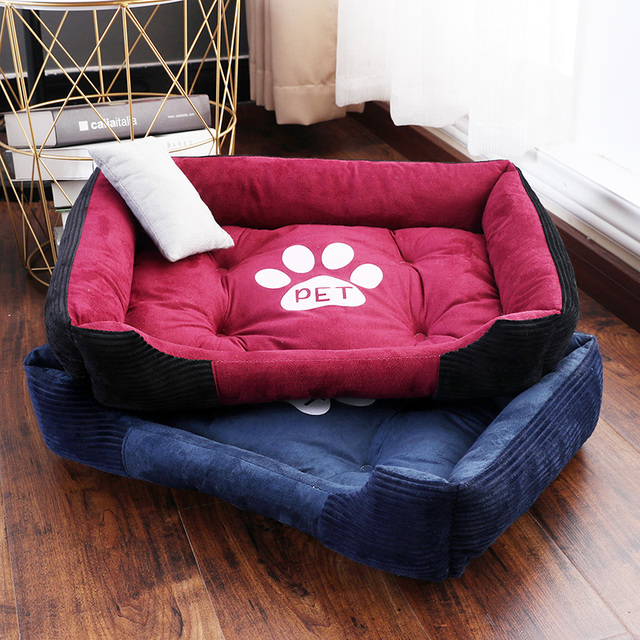 CANILE Soft Pet Bed For Dogs Washable House For Cat Puppy Cotton Kennel Mat Pet Bed Warm Pet Products For Small Medium Large Dog 1