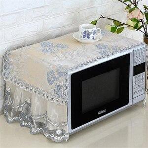 Image 3 - Capa para forno antipoeira, capa de algodão para decoração, com bolsa de armazenamento, pastoral, para cozinha e casa