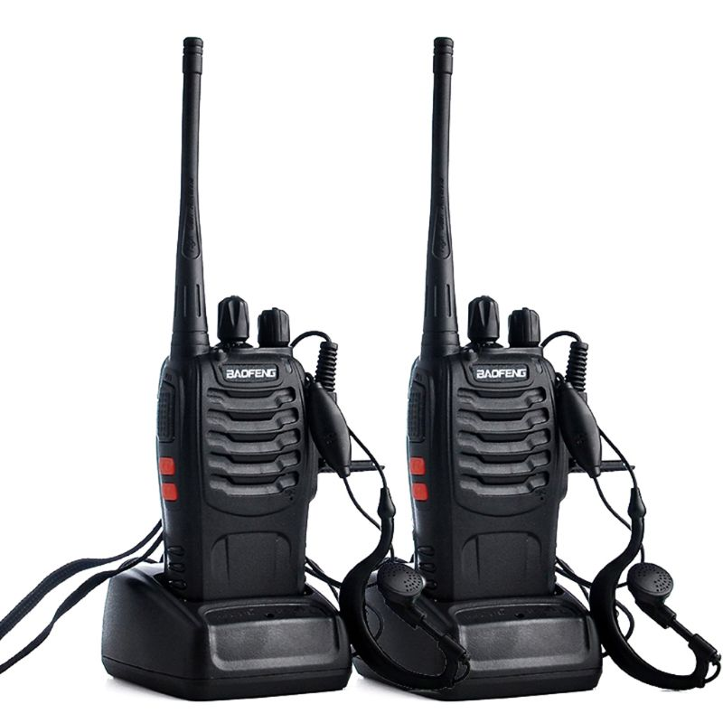 BAOFENG BF-888S Transceiver Walkie-Talkie Two-Way-Radio Earpiece UHF 400-470mhz Portable