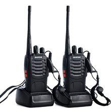 2 pièces/lot BAOFENG BF 888S talkie walkie UHF Radio bidirectionnelle Baofeng 888s UHF 400 470MHz 16CH émetteur récepteur Portable avec écouteur X6H