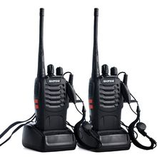 2pcs/lot BAOFENG BF 888S Walkie talkie UHF Two way Radio Baofeng 888s UHF 400 470MHz 16CH Portable Transceiver with Earpiece X6H