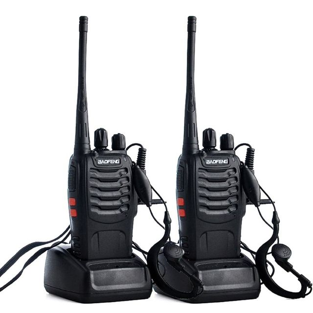 2pcs/lot BAOFENG BF-888S Walkie talkie UHF Two way Radio Baofeng 888s UHF 400-470MHz 16CH Portable Transceiver with Earpiece X6H