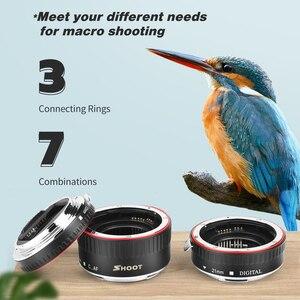 Image 2 - Schieten Auto Focus Macro Extension Tube Ring Voor Canon Eos EF S Lens 1300D 1100D 1200D 1000D 4000D 700D 650D 450D 77D T6 Accessoire