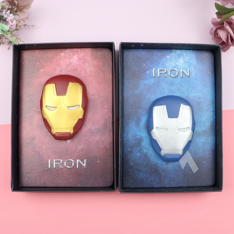 2020 Iron Man Notebook Spider-man Diary Marvel Notepad Office Supplies Students Gift