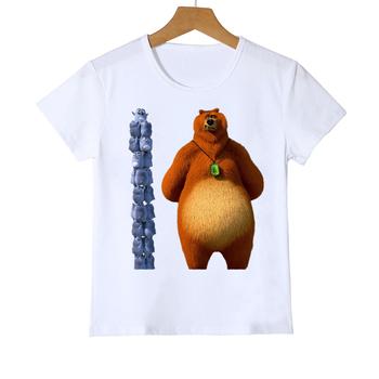 T-shirt dla dziewczynek chłopcy światło słoneczne Grizzy niedźwiedź nadruk zwierzęta tshirt dziewczyny chłopcy śliczne ubrania dla dzieci śmieszne lemings t shirt topy tanie i dobre opinie COTTON POLIESTER CN (pochodzenie) Na co dzień W stylu rysunkowym REGULAR Z okrągłym kołnierzykiem SHORT Pasuje na mniejsze stopy niezwykle Proszę sprawdzić informacje o rozmiarach ze sklepu