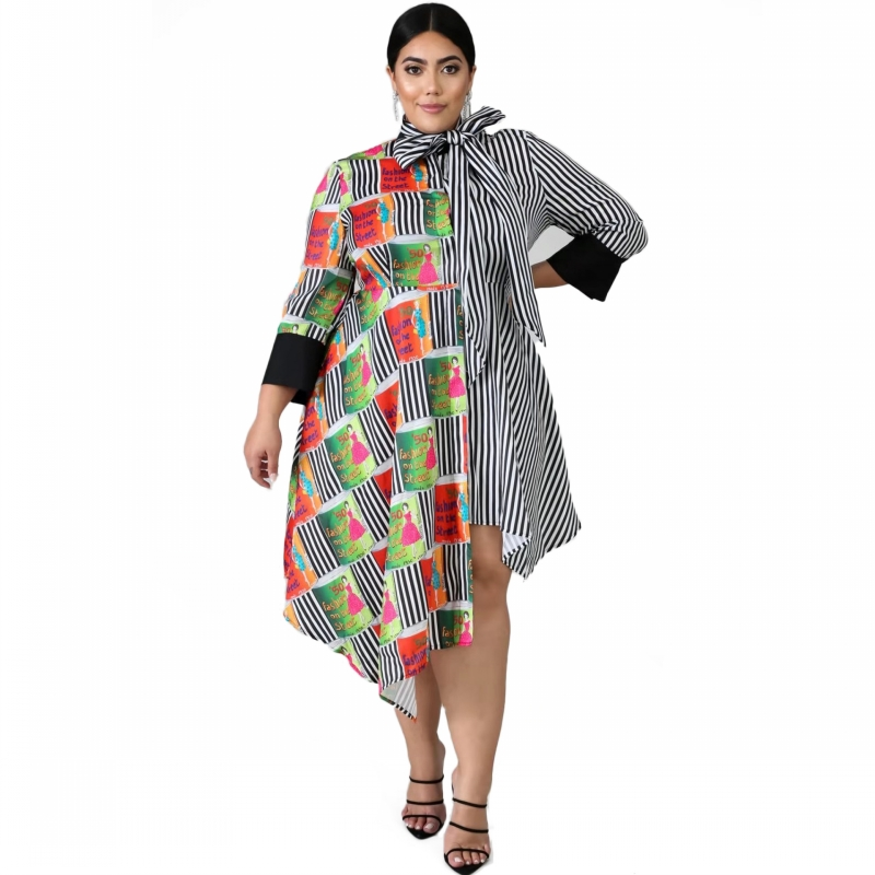 5XL 6XL Plus Size African Dresses For Women Robe African Clothing Dashiki Fashion Print Cloth Long Dress Africa Clothing