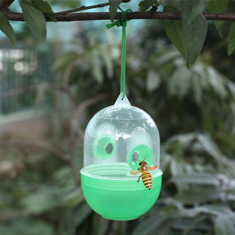 NEW 1 PC Green Color Bee Trapper Pest Repeller Killer Hanging On Tree Garden Tools Insects Flies Hornet Trap Catcher Drop Ship(China)