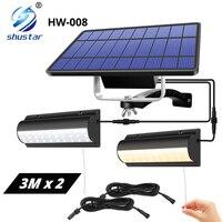Doppel Kopf Solar Licht Outdoor Indoor Anhänger Licht Automatische Sensor Schalter + Manuelle Schalter für Hof, Garten, indoor Etc,