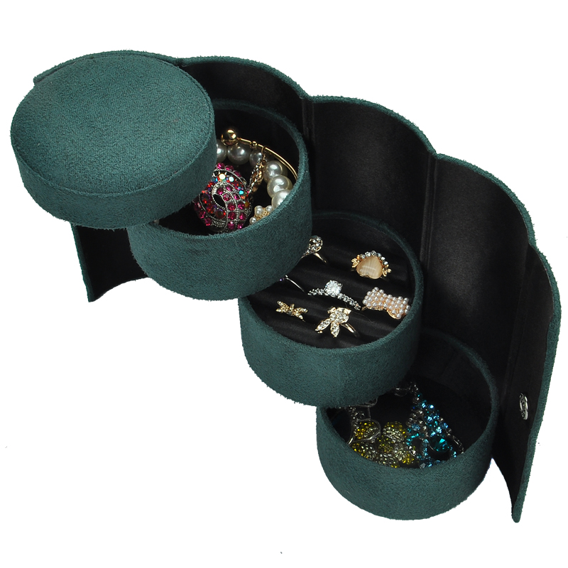 2019 Classical Small Portable Velvet  Exquisite Jewelry Boxes  Jewel Organizer Jewel Casket Fashion Wedding Gift Birthday Gift