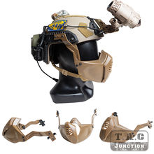 Tactical Mandible Guard Protector Skeleton Half Mask With Side Rail For FAST MICH MARITIME Helmet Helmet Guide Half Face Mask