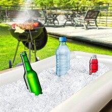 2 шт надувной сервировочный/салатный бар лоток держатель для питья гриль для пикника бассейн вечерние буфет с сливной вилкой подходит для вечерние