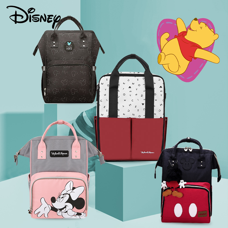 Disney 2019yearthe New Usb   Waterproof  Fashion Mummy Maternity Nappy Bagbackpack Mommy Bags Maternity Large Nappy  Bags