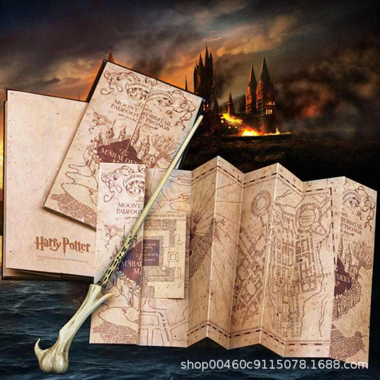 Hary Poter  77cm*22cm Marauder's Map Christmas Gifts Action Harr Map Toys For Children Birthday Present Or Student Gift