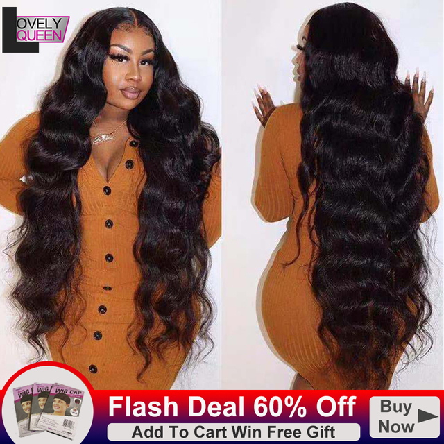 Body Wave Human Hair Wigs 13x6x1 T Part Wigs 30 Inch Lace Front Wig Indian Hair Wigs Pre Plucked Human Hair Lace Frontal  Wigs