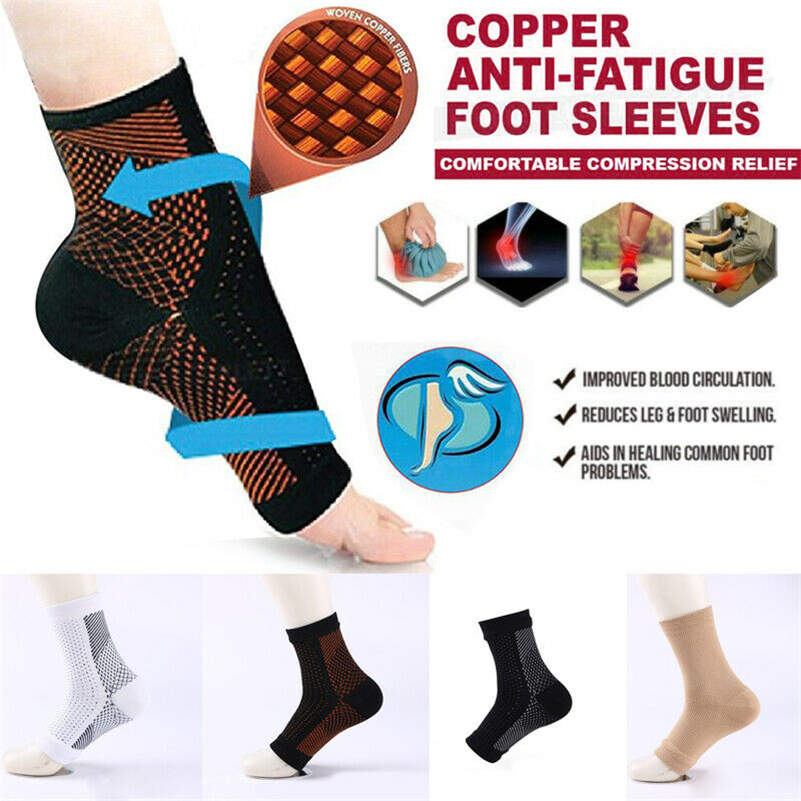 Kids Ankle Support Girl Boy Adjustable Compression Ankle Brace Sleeve Wrap Child Sports Foot Protector Breathable Elastic Injury Recovery Guard Nonslip Athletic Socks for Running Basketball Volleyball