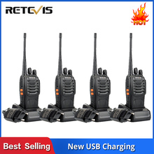 4 PCS Retevis H777 Radio Walkie Talkie 5W UHF400-470MHz 16CH Ham Radio Portable Two Way Radio Comunicador Hf Transceiver A9105A