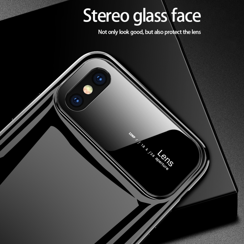 Hbccb03b897aa447cb2f7cbd17e1befc1q Plastic shell for iphone X XR XS MAX glass case iPhone 7 8 PLUS 11 Pro MAX ultra-thin anti-fall cover 360° surrounding shell