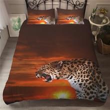 MEI Dream Roaring Leopard Quilt Duvet Cover Animal Series Bedding Set Bed Linings View flat sheet