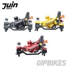 Juin tech GT P 4 pistões ultralight conjunto de freio a disco hidráulico pinça mountain bike estrada cx cascalho duplo lado atuação freio