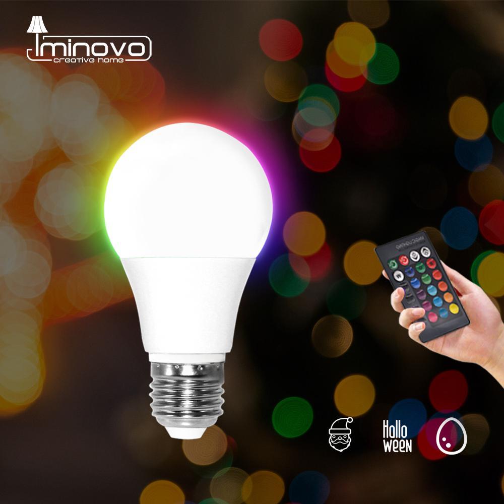 LED RGB Bulb RGBW RGBWW E27 5W 10W 15W Dimmable Spot Light Remote Colorful Holiday Party Bar AC220V 240V Home Decor Night Lamp
