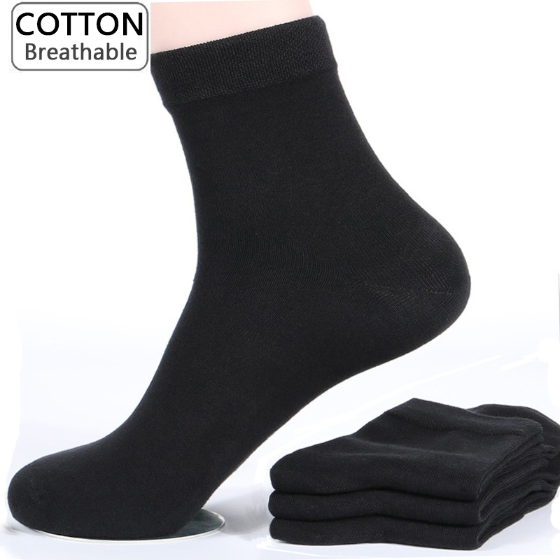 10 Pairs/lot Large Size Men Socks Cotton High Quality Solid Color Fashion Casual  Classic Business Male Socks New Long Socks Men