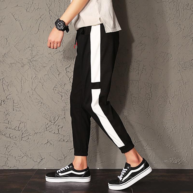 2019 New Style Summer Casual Pants Students Slim Fit Teenager Korean-style Capri Skinny Pants Men'S Wear