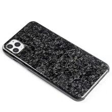 Novo forjado composto de fibra carbono real caso do telefone móvel para o iphone 11 capa proteção completa para o iphone 11pro 11pro caso max