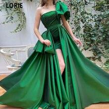 Зеленые атласные вечерние платья lorie mermiad 2021 с открытым