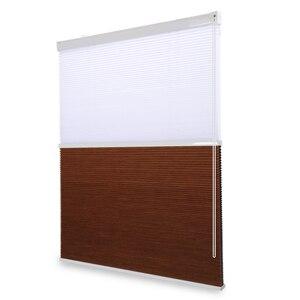 Image 2 - 패션 낮과 밤 벌집 블라인드 새로운 도착 더블 셀룰러 블라인드 음영 거실 침실 50% ~ 100% 음영 속도