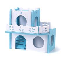Climbing-Toy House Nest Pet Hamster Log-Cabin Rabbit-Hedgehog Sleeping-House-Supplies