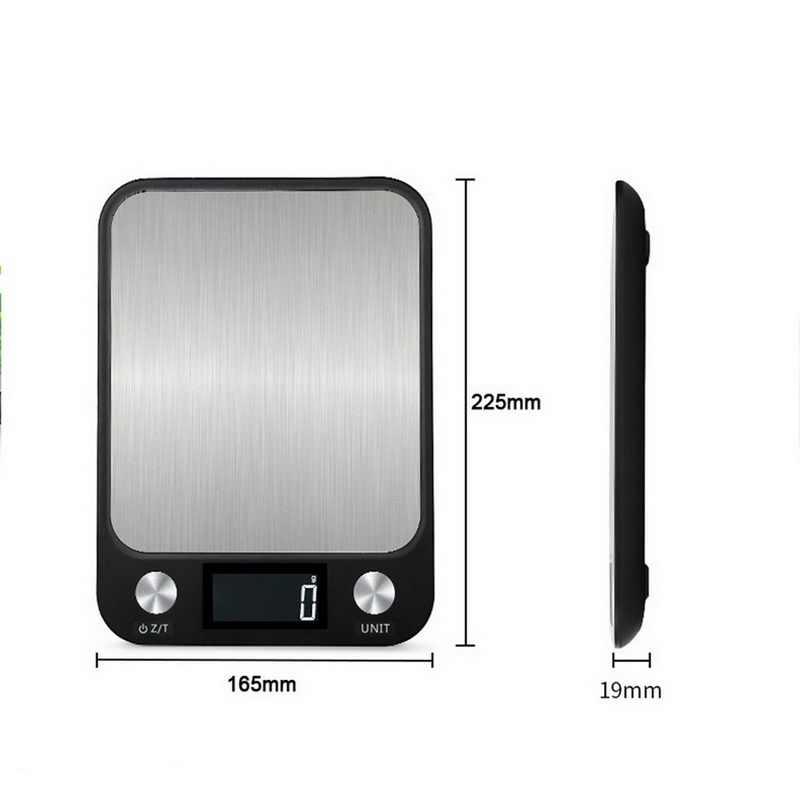 ЖК-дисплей Дисплей 10 кг/1g многофункциональная цифровая Еда Кухня весы Нержавеющаясталь для взвешивания пищевых продуктов Еда весы Пособия по кулинарии инструменты Баланс Новый