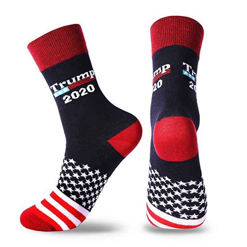Casual Cotton Trump Printed Spandex Socks Hosiery Footwear Accessories For 2020 American President Election