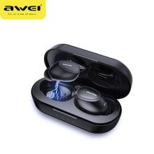 オリジナル awei tws T16 ワイヤレスイヤホン bluetooth ヘッドセットイヤホンで真のワイヤレス xiaomi 名誉 iphone のイヤホン用