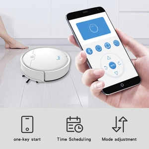 Image 3 - Robot aspirador inteligente multifuncional para el hogar, aspirador inalámbrico con aplicación remota de 2020 Pa, 2000