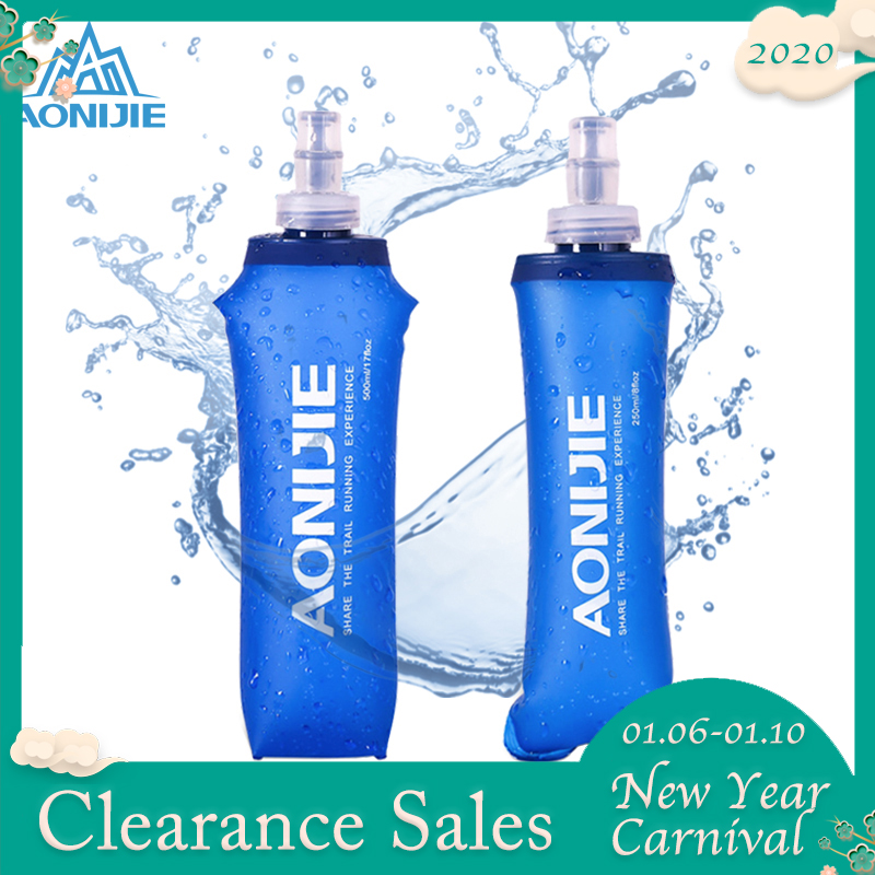 AONIJIE Hydration Pack Soft Flask Folding Collapsible Water Bottle 250ml 500ml TPU Free For Running Waist Bag Vest SD09 SD10