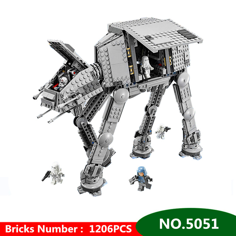 1206pcs Diy Star Series Wars Force Awaken AT Transpotation Armored Robot Blocks Bricks Toys Compatible With Lepining